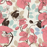 Retro floral pattern Royalty Free Stock Images