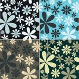 Retro Floral Pattern Set Stock Images