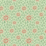Retro Floral Seamless Royalty Free Stock Photography