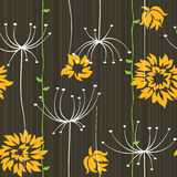 Retro floral seamless background Royalty Free Stock Photography