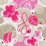 Retro floral seamless background Stock Photos