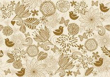 Retro floral seamless background Stock Images