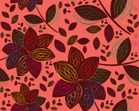 Retro floral seamless background. Colored and modern Retro floral seamless background Stock Photography