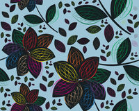 Retro floral seamless background. Colored and modern Retro floral seamless background Royalty Free Stock Photography