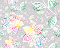 Retro floral seamless background. Colored and modern Retro floral seamless background Stock Photo