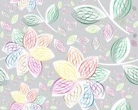 Retro floral seamless background Stock Photo