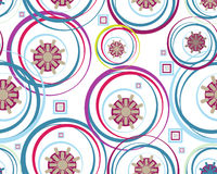 Retro floral seamless background. Colored and modern Retro floral seamless background Royalty Free Stock Photos