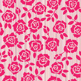 Retro floral seamless background with roses Stock Photos
