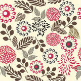 Retro floral seamless background in vector. Elements of design seamless backgrounds, plants and flowers Stock Photography