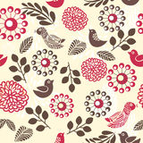 Retro floral seamless background in vector. Elements of design seamless backgrounds, plants and flowers in vector Royalty Free Stock Images