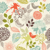 Retro floral seamless background in vector. Elements of design seamless backgrounds, plants and flowers in vector Stock Images