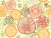 Retro floral seamless background in vector. Floral seamless backgrounds for design of fabrics and wallpapers in vector Stock Image