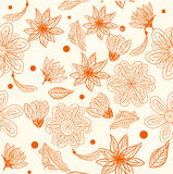 Retro floral seamless background in vector. Floral seamless backgrounds for design of fabrics and wallpapers in vector Royalty Free Stock Photo