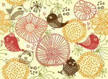 Retro floral seamless background in vector Royalty Free Stock Photos