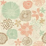 Retro floral seamless background in vector. Floral seamless backgrounds for design of fabrics and wallpapers in vector Royalty Free Stock Photography