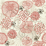 Retro floral seamless background in vector Stock Photography