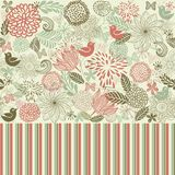Retro floral seamless background in vector Stock Image