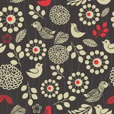 Retro floral seamless background in vector Royalty Free Stock Image