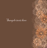 Retro floral seamless border with asters Royalty Free Stock Photo