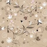 Retro floral seamless pattern Royalty Free Stock Image