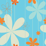 Retro floral seamless pattern royalty free illustration