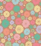 Retro floral seamless pattern. Stock Image