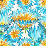 Retro floral seamless pattern stock illustration