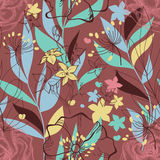 Retro floral seamless pattern Stock Photos