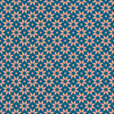 Retro floral seamless pattern. Vector background Royalty Free Stock Photography