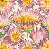 Retro floral seamless pattern Stock Photo