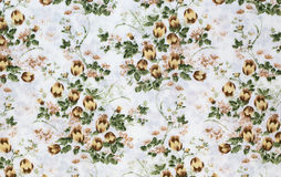 Retro Floral Textile Royalty Free Stock Photo