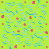 Retro Floral Tile Stock Photo