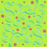 Retro Floral Tile Stock Photo