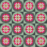 Retro floral tile pattern. Colorful tile pattern with decorative flowers Stock Photos