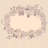 Retro floral vignette Stock Photography