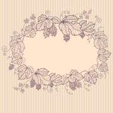 Retro floral vignette Stock Photography