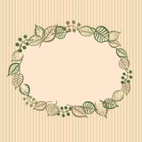 Retro floral vignette Stock Photos