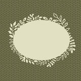 Retro floral vignette Royalty Free Stock Images