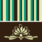 Retro floral wallpaper Stock Images