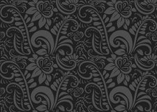 Retro floral wallpaper. Seamless Stock Photo