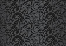 Retro floral wallpaper. Seamless Royalty Free Stock Photo