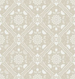 Retro floral wallpaper. Seamless. Vector illustrat Royalty Free Stock Photo
