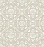 Retro floral wallpaper. Seamless. Vector illustrat Royalty Free Stock Photo