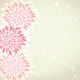 Retro flower background. With ink Royalty Free Stock Photography