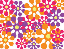 Retro flower background. A colorful retro flower background Vector Illustration