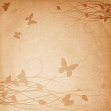 Retro flower background with butterfly Stock Photography