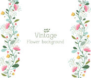 Retro flower background concept. Vector Royalty Free Stock Photography