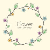 Retro flower background concept. Vector Stock Photos
