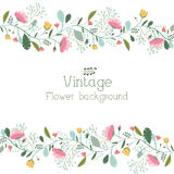 Retro flower background concept. Vector Royalty Free Stock Photo