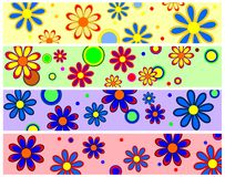 Retro Flower Banners Royalty Free Stock Image